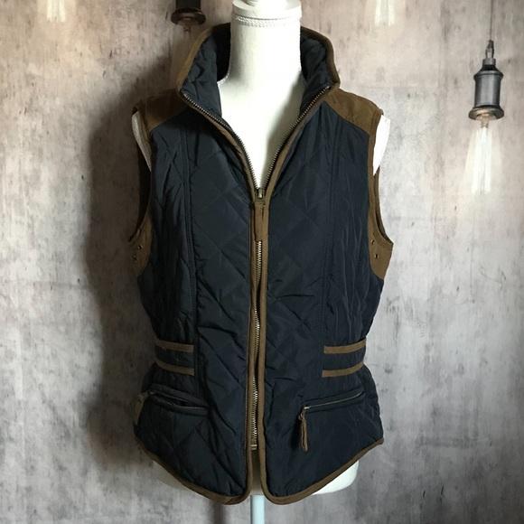 L Navybrown Zara Size Poshmark Jacketsamp; Quilted Vest CoatsBasic EIYWHD29
